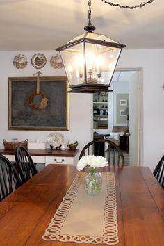 Farmhouse Lighting in the Kitchen at The Creek Line House