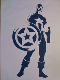 Captain America Paper Cut by Inbarigami on Etsy
