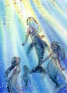 Humpback whale mermaids by NeliaViola.deviantart.com on @DeviantArt