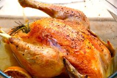 Langtidsstegt kylling i ovn med rosmarin og hvidløg