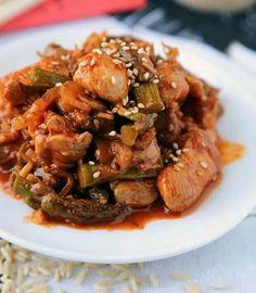 Spicey chicken asparagus stir fry