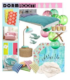 """Dorm room"" by katiemax34 on Polyvore featuring interior, interiors, interior design, home, home decor, interior decorating, PBteen, Fatboy, Howard Elliott and Serena & Lily"