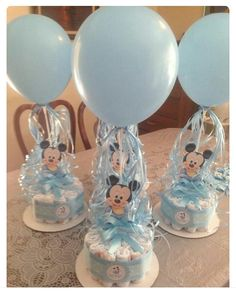 Baby boy shower decorations centerpiece for baby shower boy baby boy shower centerpieces for tables baby Cadeau Baby Shower, Deco Baby Shower, Baby Shower Host, Fiesta Baby Shower, Shower Bebe, Baby Shower Diapers, Baby Shower Balloons, Baby Shower Parties, Baby Shower Themes