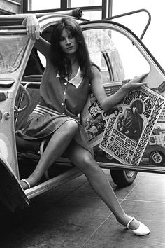 Sixties — Nicoletta Machiavelli on September 1, 1968 with a...