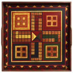 Folk Art Gameboard - Parchesse Squares