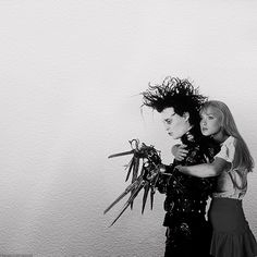 Edward Scissorhands - Johnny Depp and  Winona Ryder - directed by Tim Burton - 1990