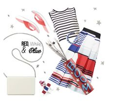 """Red, White, & Blue"" by annbaker ❤ liked on Polyvore featuring Nine West, Easy Spirit, Pier 1 Imports, Milly, Kate Spade, redwhiteandblue and july4th"