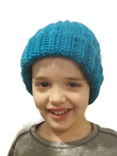 Items similar to Basic ribbed chunky skull cap, custom color and size, made to order on Etsy Ribbed Crochet, Crochet Skull, Etsy Handmade, Handmade Items, Knitted Hats, Crochet Hats, Electric Blue, Winter Hats
