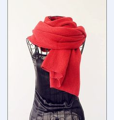 Simple Design Fashion Long Style Scarf Red i3700650