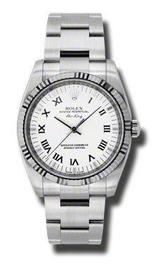 Rolex Watches - Air-King White Gold Fluted Bezel - 114234wdo