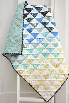 Modern Baby Quilt Baby Girl or Boy Gender Neutral by SewGingerly