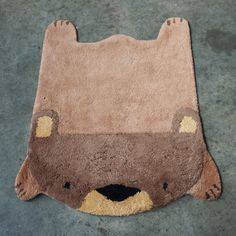 Bear Rug by The Somethings. - http://www.homedecoz.com/interior-design/bear-rug-by-the-somethings/