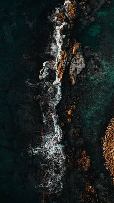 Download iPhone Xs, iPhone Xs Max, iPhone XR HD wallpapers  sea, rocks, aerial view, water, stones