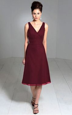 Bridesmaid Dress?? Find out the latest A-line Knee-length V-neck Burgundy Dress with Dressesy. From evening dresses to prom dresses, cocktail dresses to maxi dresses and more. Shop one from thousands of dresses here.