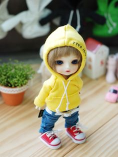Items similar to Lati yellow Pukifee Vintage Hooded T -Yellow on Etsy Tiny Dolls, Bjd Dolls, Plush Dolls, Cute Cartoon Pictures, Cute Cartoon Girl, Pretty Dolls, Cute Dolls, Cute Little Baby, Little Babies