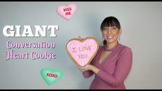 GIANT Conversation Heart Cookie