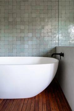 elementally simple - wood and zellige terracotta tile: tea ceremony design: : Bathroom Flooring, Bathroom Wall, Modern Bathroom, Small Bathroom, Master Bathroom, Tile Bathrooms, Earthy Bathroom, Bathroom Furniture, Primitive Bathrooms