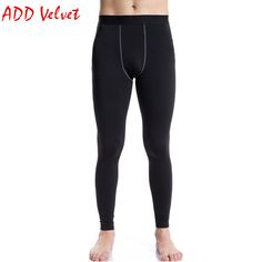 afb78c6925dc2 ADD VELEVT Men's Sports Running Gym Wear Winter Thermal Gear Unse Base  Layer Compression Long Pants