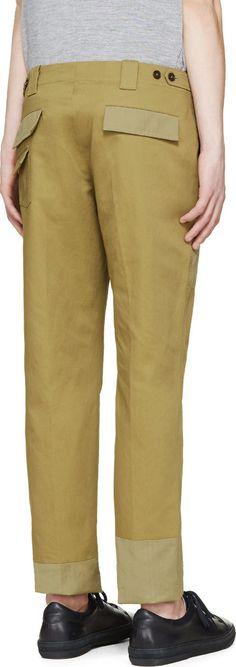 Maison Margiela Military Green Slim Trousers