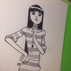 #ink by anna_cattish Cute Illustration, Character Illustration, Graphic Design Illustration, Character Inspiration, Character Art, Character Design, Anna Cattish, Ink Instagram, 2d Art