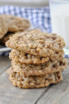 Oatmeal Toffee Cookies are a light , crisp cookie with the right amount of chocolate and toffee. It will quickly become a family favorite.