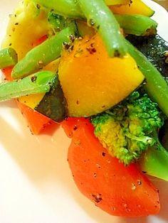 ☆付け合わせに♪温野菜のオリーブオイル炒め☆ レシピ・作り方 by コポタン|楽天レシピ