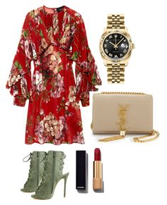 """""""Untitled #32"""" by agaogludilara on Polyvore featuring Gucci, Rolex, Yves Saint Laurent, Chanel, women's clothing, women, female, woman, misses and juniors"""