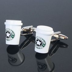 画像: コーヒーカップカフス(カフリンクス・カフスボタン)