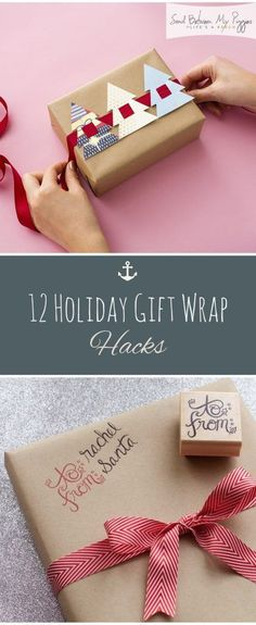 12 Holiday Gift Wrap Hacks| Holiday Gift Wrap, Holiday Gift Wrap Hacks, Gift Wrapping, Christmas Gift Wrap, Christmas Gift Wrap Hacks, Holiday Gift Wrap #Christmas #ChristmasGiftWrap #GiftWrap