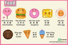 Chinese vocabulary of delicious dessert, 我最喜欢吃冰淇淋和奶酪,你呢?wǒ zuì xǐ huɑn chī bīnɡ qí lín hé nǎi lào , nǐ ne ?