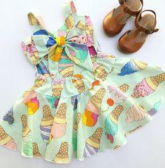 Museum of ice cream dress for girls baby toddler dresses
