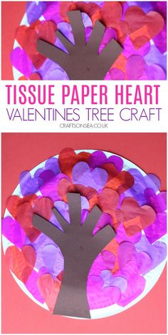 Valentines Heart Tree Craft - a simple paper plate Valentines craft for kids Valentine's Day Crafts For Kids, Valentine Crafts For Kids, Valentines Gifts For Him, Valentines Diy, Toddler Crafts, Toddler Art, Preschool Crafts, Valentine Tree, Valentines Day Activities