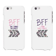 365 Printing Crazy BFF Floral Arrows White Matching Best ...