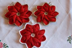 Crochet Potholders, Crochet Doilies, Knit Crochet, Sewing Patterns, Crochet Patterns, Diy And Crafts, Paper Crafts, Crochet Christmas Decorations, Handicraft