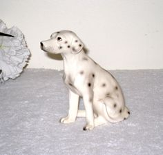 Realistic Vintage Ceramic Dalmatian Dalmation by CookieGrandma60