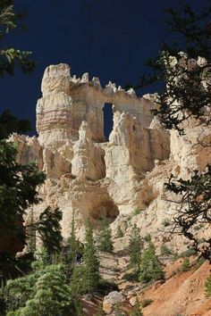 White wall of Bryce, Bryce canyon national park, Utah.