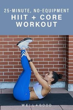 This equipment-free workout will give you your daily dose of cardio and core work in 20 minutes flat Home Strength Training, Strength Training For Runners, Strength Training For Beginners, Workout For Beginners, Barre Workout, Dumbbell Workout, Workout Routines, Best Body Weight Exercises, Short Workouts