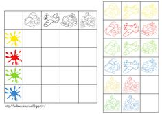 Knip en kleef in de juiste kolom. Preschool Prep, Preschool Games, Kindergarten Math, Toddler Activities, Teacch Material, Visual Perceptual Activities, Mother Card, Logic Games, School Themes