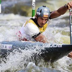 Heats at the 2017 ICF Canoe Slalom World Cup in Prague, Czech Republic