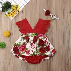 Baby Girl Rose Lace V Neck Bodysuit Dress - Baby Girl Romper - Ideas of Baby Girl Romper Baby Girl Patterns, Baby Clothes Patterns, Cute Baby Clothes, Baby Girl Romper, Baby Girl Dresses, Baby Dress, Dress Girl, Baby Outfits Newborn, Toddler Outfits
