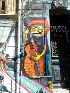 Binho - street art - Marseille 6 / cours julien, rue bedarrides (aout 2014)