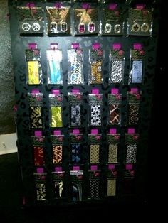A small sampling of straps and clips for Tiger Lily Flip Flops