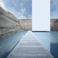 GM Architects Cut Through Beirut's Multicultural History at 2014 Venice Biennale,A view of the monolith from the bottom level walkway of the museum. Image © GM Architects