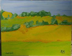 Avant la pluie (Vor dem Regen, just before the rain) - Öl auf Sperrholz, oil on wood, huile sur bois - 40 x 50 cm