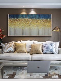 Abstract Painting Techniques, Blue Abstract Painting, Abstract Canvas Art, Diy Canvas Art, Diy Painting, Painting With Gold Leaf, Homemade Canvas Art, Pour Painting, Urbane Kunst
