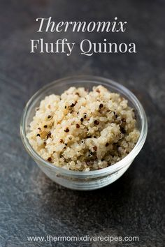Making Thermomix Quinoa is really easy and turns out fluffy every time. It's easy to 'set and forget' and not have to worry about the saucepan boiling dry. Thermomix Recipes Healthy, Vegetarian Recipes, Thermomix Desserts, Rice Recipes, Recipies, Quinoa In Rice Cooker, Peach Syrup, Snacks Sains, How To Cook Quinoa