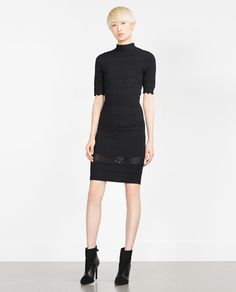 Image 1 of DETAILED KNIT DRESS from Zara