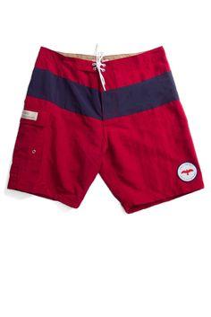 Apolis Swim Trunk Red Navy