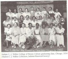 First graduating class of Madam C J Walker College of Beauty Culture Chicago 1934 Graduating Class, African Diaspora, My Black Is Beautiful, African American History, History Facts, Black People, Black History, Vintage Photos, Vintage Photographs