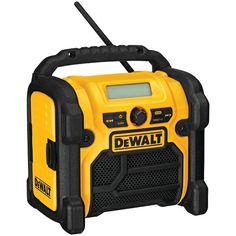 DEWALT DCR018 12-Volt/18-Volt/20-Volt MAX Compact Worksite Radio